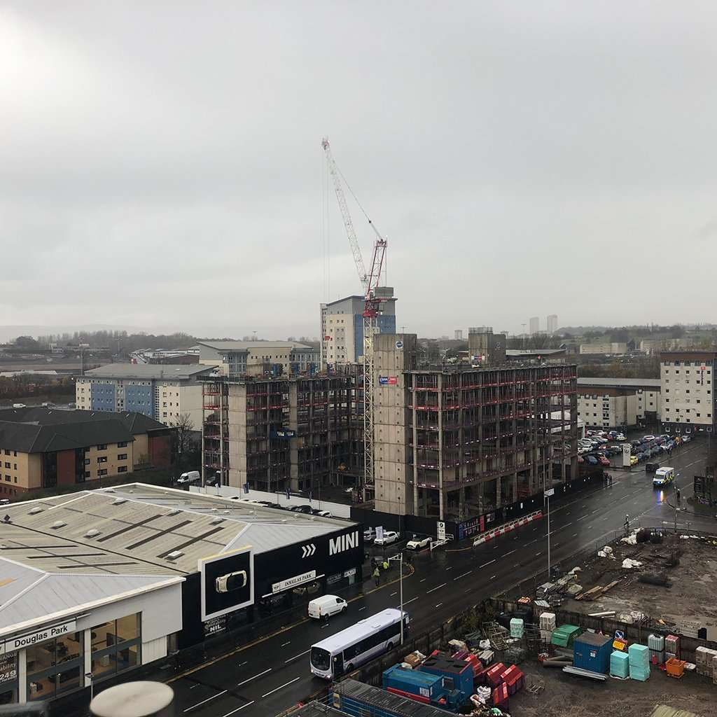 Site Progress at The Printworks, Kyle Street