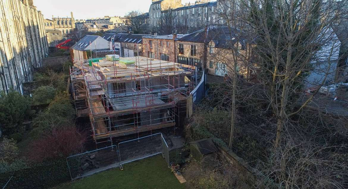 Broughton Place Lane drone images